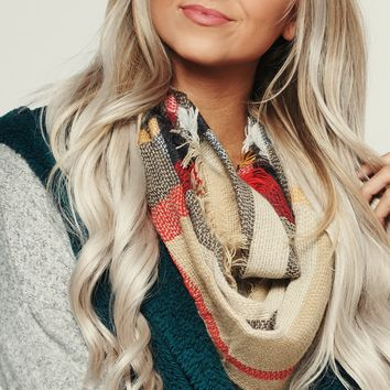 Infinite Love Infinity Scarf (Camel/Multi)