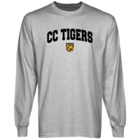 Colorado College Tigers Ash Logo Arch Long Sleeve T-shirt