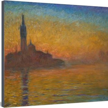 Venice by Twilight, 1908 Giclee Print by Claude Monet at Art.com