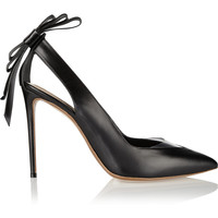 Nicholas Kirkwood Bow-embellished leather and PVC pumps – 55% at THE OUTNET.COM