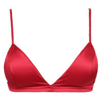 Red Satin Triangle Bralet
