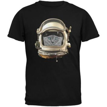 DCCKJY1 Astronaut Cat Black Adult T-Shirt