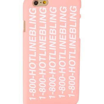 Pink '1-800-Hotlinebling' Hard Case for iPhone 6 Plus & 6S Plus