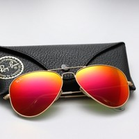 Ray Ban Aviator RB 3025 - Colored Mirror Sunglasses - Sunset