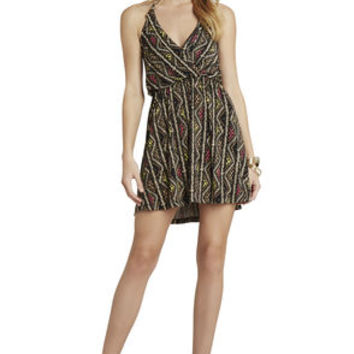 Surplice Halter Dress in Tan - BCBGeneration