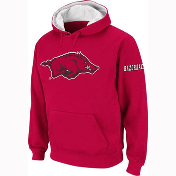 Arkansas Razorbacks Cardinal Twill Pep Rally Hooded Sweatshirt