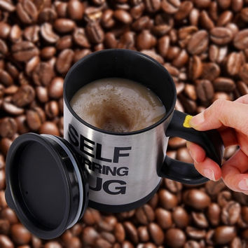 Double Insulated Self Stirring Mug 400ml Electric Coffee Milk Cup Perfect Souvenir (Food Grade) = 1842800580