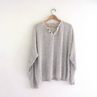 vintage slouchy sweater. oversized oatmeal sweater. size XL