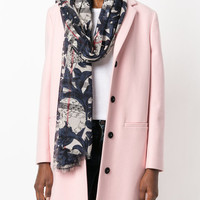 Burberry Beasts Print And Check Scarf - Farfetch
