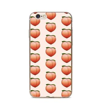 Peach Emoji iPhone Case