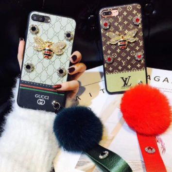LV and Gucci  print phone shell phone case for Iphone 6/6s/6p/7p/7/8/8p/X