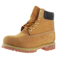 "KingShow Men's 6"" Wheat Work Boots Nubuck Leather"