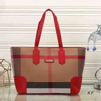 Fashion Zip Burberry Women Shopping Leather Handbag Tote Satchel Shoulder Bag H-MYJSY-BB