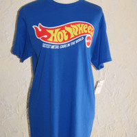 HOT WHEELS BY MATTEL Unisex Adult T Shirt Size Medium Hot Wheels Logo Front NWT