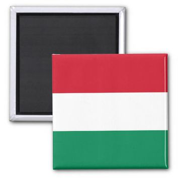 Magnet with Flag of Hungary