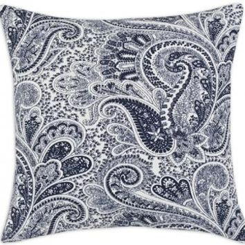 Paisley Pillow - Paisley Pillows - Blue Decorative Pillows - Decorative Sofa Pillows - Decorative Throw Pillows - Accent Pillows - Decorative Pillows | HomeDecorators.com