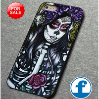 Floral Sugar Skull Day of the Dead for iphone, ipod, samsung galaxy, HTC and Nexus PHONE CASE