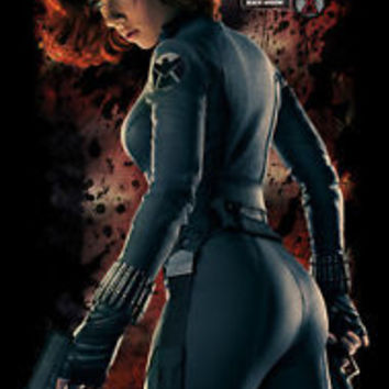 Movie POSTER Marvel The Avengers Scarlett Johansson Black Widow 19x30