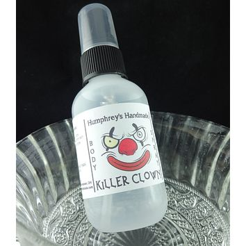 KILLER CLOWN Body Spray | Cotton Candy Scent | All Natural Perfume | 2 oz