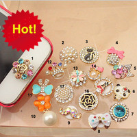 1PC colorful rhinestone /Bling Frame iPhone Home Button Sticker for iPhone 4,4s,4g, 5 & iPad, Phone Charm multicolor choices