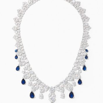Victoria CZ Bib Necklace | Charming Charlie