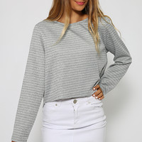 Sunny Sailor Top - Grey Stripe