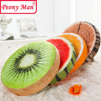High Quality! 3D Simulation Plush Fruit Cushion Peony Man Round Pillow Chair Seat Sofa Meditation Floor Cushions Birthday Gift