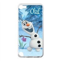 Custom Frozen Disney 3D Movie Olaf Cute Snowman Hard Case for IPod Touch 5 TPU (Laser Technology)