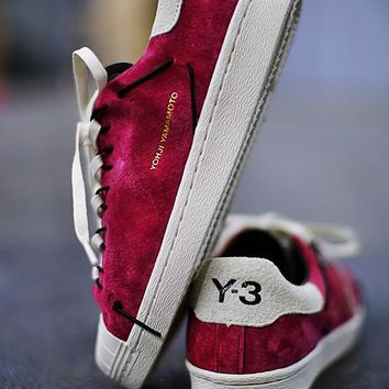 "adidas Y-3 Super Knot Superstar Running shoes ""Wine Red&White""AC7482"