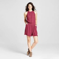 Women's High Neck Romper Burgundy - Mossimo Supply Co.™ : Target