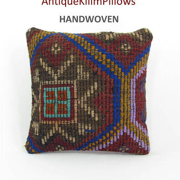 kilim pillow cover decorative pillow kilim pillow case oriental rug pillow ethnic home decor ethnic decoration hippie pillow case 000107