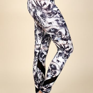 Mosaically Inclined Mesh Leggings Paint