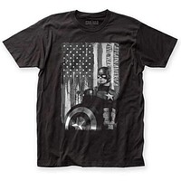 Captain America Civil War Black and White Patriot T-Shirt