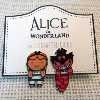 Alice in wonderland ear jacket earrings