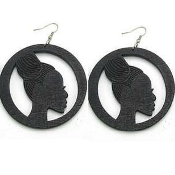 Braided up do earrings (3 colors) | Natural hair earrings | Afrocentric earrings | jewelry | accessories