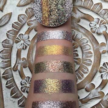 The golds pressed glitter eyshadow palette 57mm pan, NOW in magnetic pans