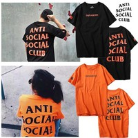 KU-YOU Anti Social Social Club Paranoid T-shirts