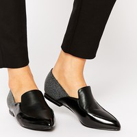 London Rebel Point Loafers at asos.com