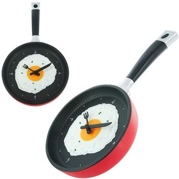 FarenHot Kitchen Series, Omelette Fry Pan Kitchen Wall Clock