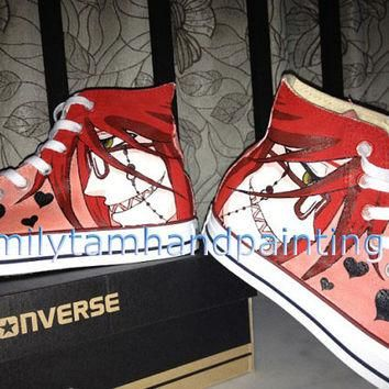 Hand Paint Converse Shoes-Custom Anime Converse Kicks