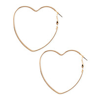 Cutout Heart Hoop Earrings