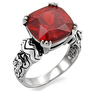 WildKlass Stainless Steel Celtic Ring High Polished (no Plating) Women AAA Grade CZ Siam