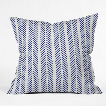 Holli Zollinger Nautical Lines Outdoor Throw Pillow