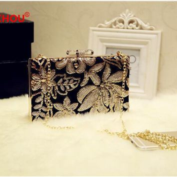 Women Silver Gold Sequin Clutch Wedding Bags Female Vintage Clutches Ladies Beaded Pearl Evening Bags Party Purses