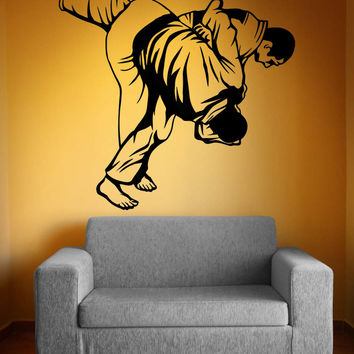Vinyl Wall Decal Sticker MMA Wrestling Flip Move #5201