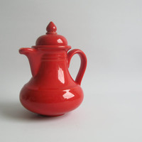 Vintage ceramic red tea pot