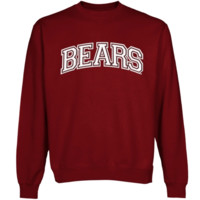 Missouri State University Bears Secondary Traditional Arch Crew Neck Sweatshirt - Maroon