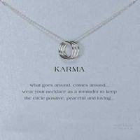 Silver Karma Necklace Triple