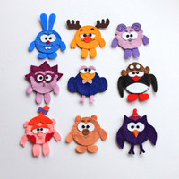 Cute fellows felt finger puppets - pack of 9