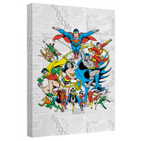 Justice League Classic Squares Stretched Canvas Wall Art